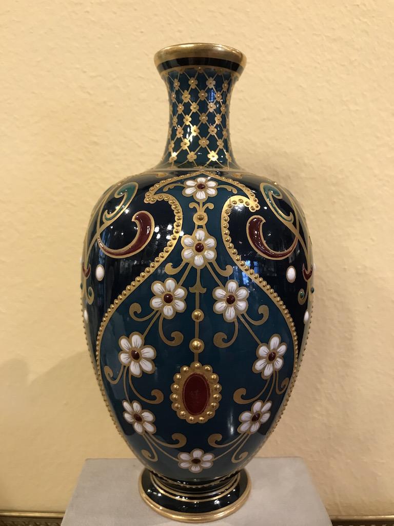 KPM – Berlin Vase mit Emailmalerei